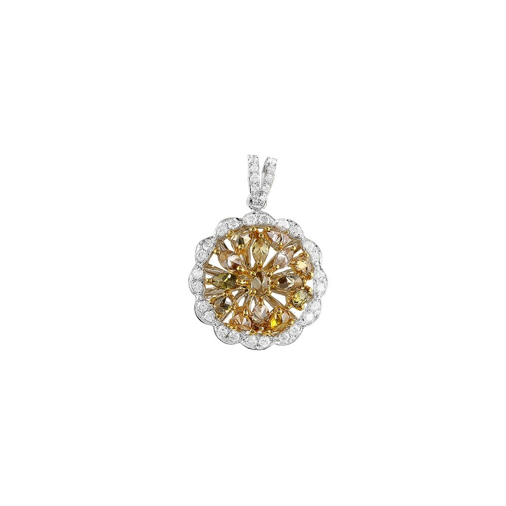 Yellow Diamonds Pendent with 2.00 Carats