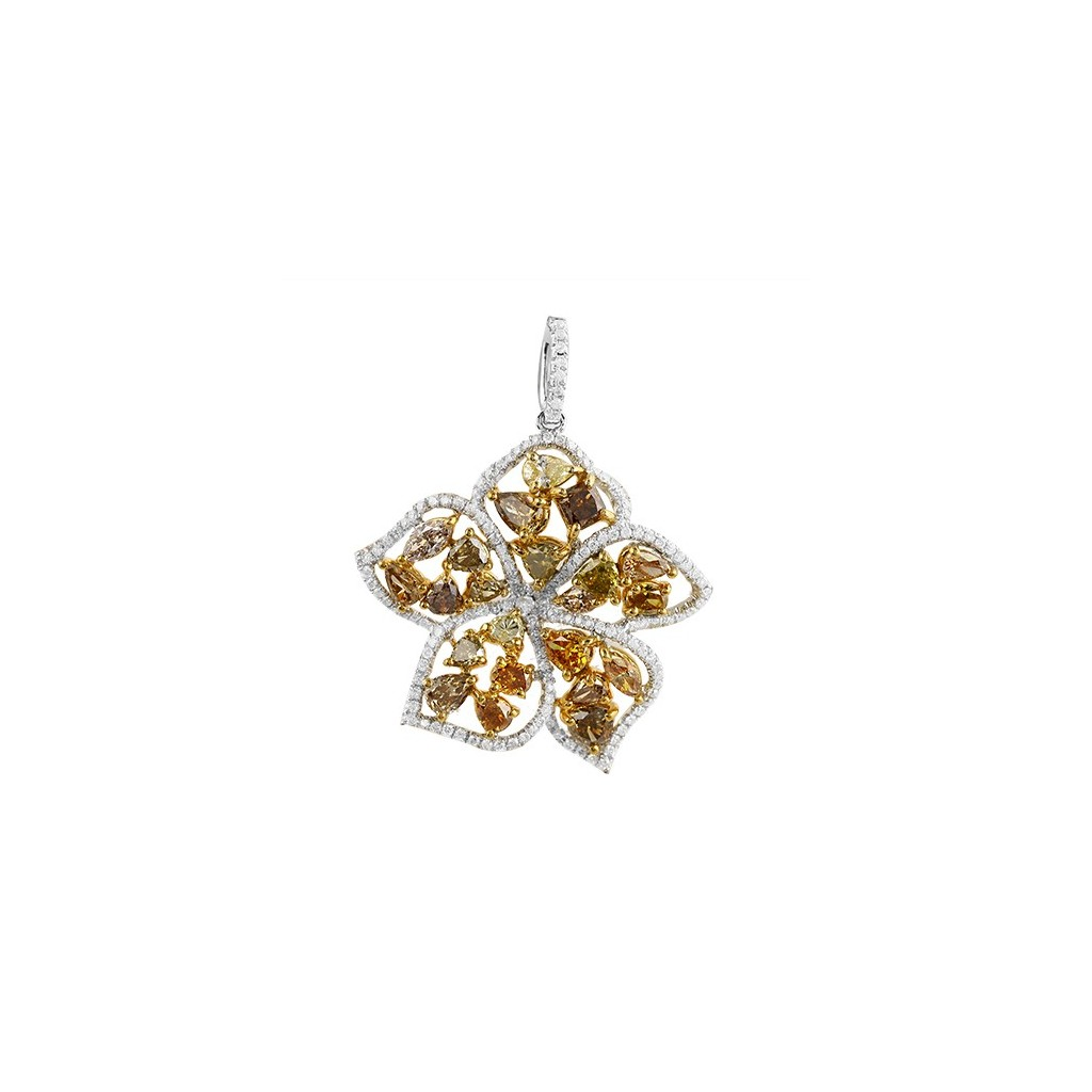 Yellow Diamonds Pendent with  5.25 Carats