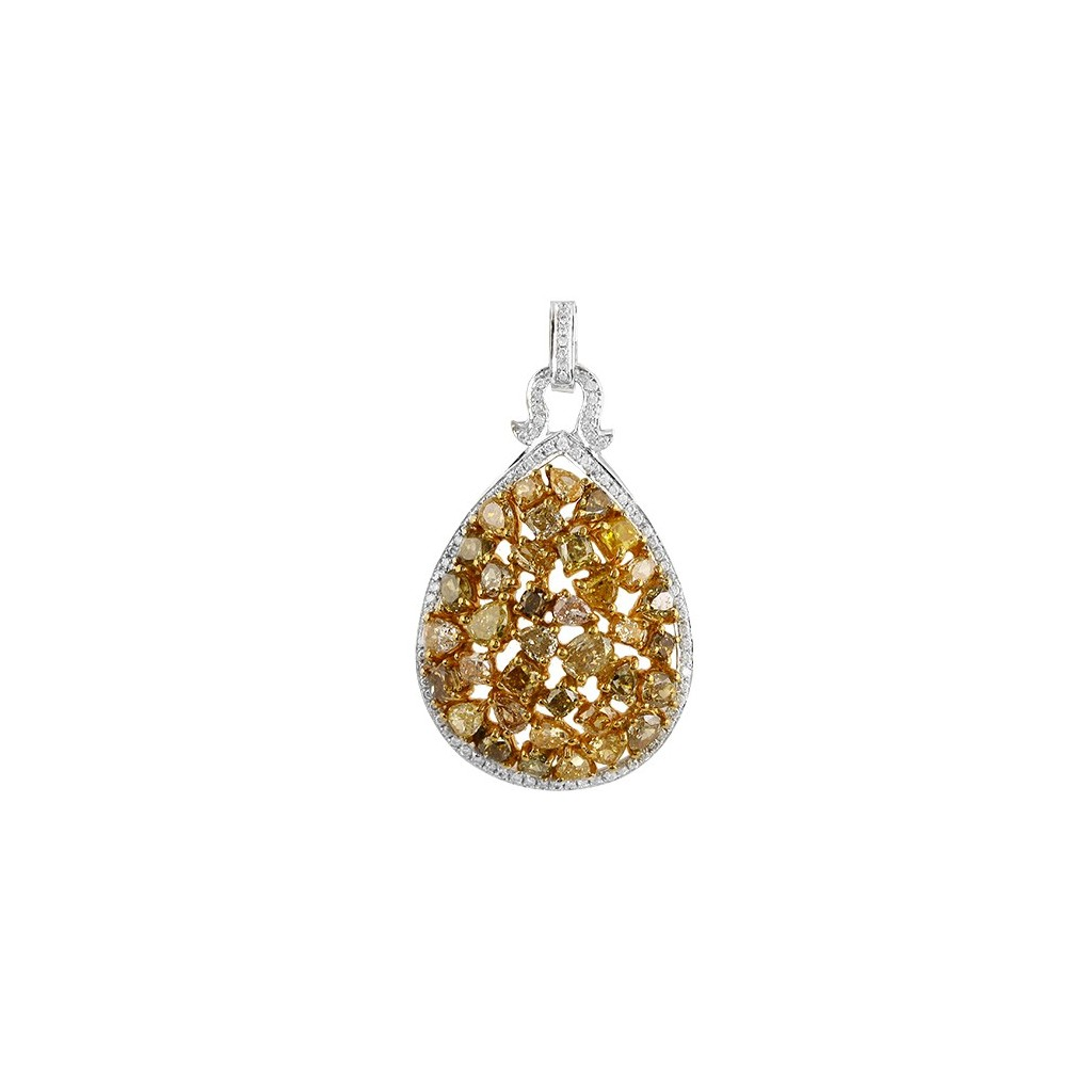 Yellow Diamonds Pendent with 5.15 Carats