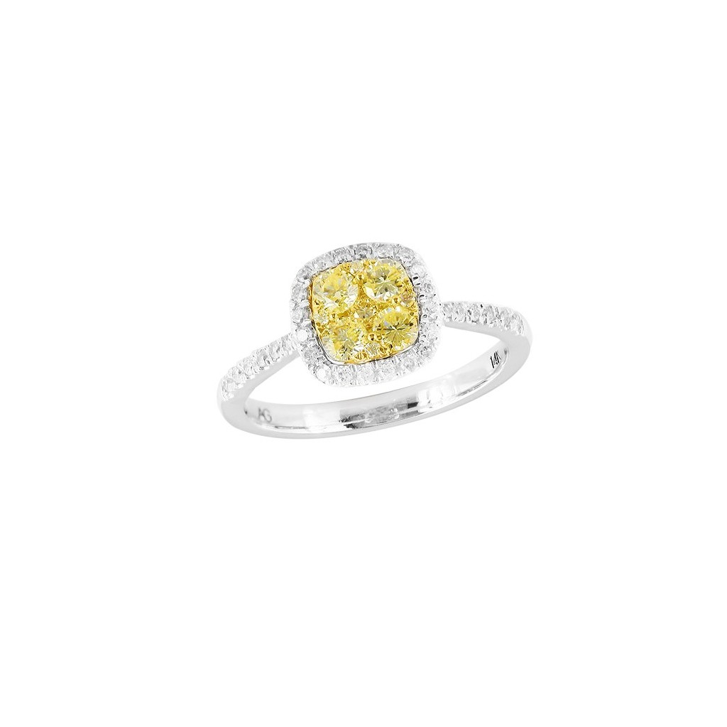 14kw 0.60ctw Yellow Diamond Ring