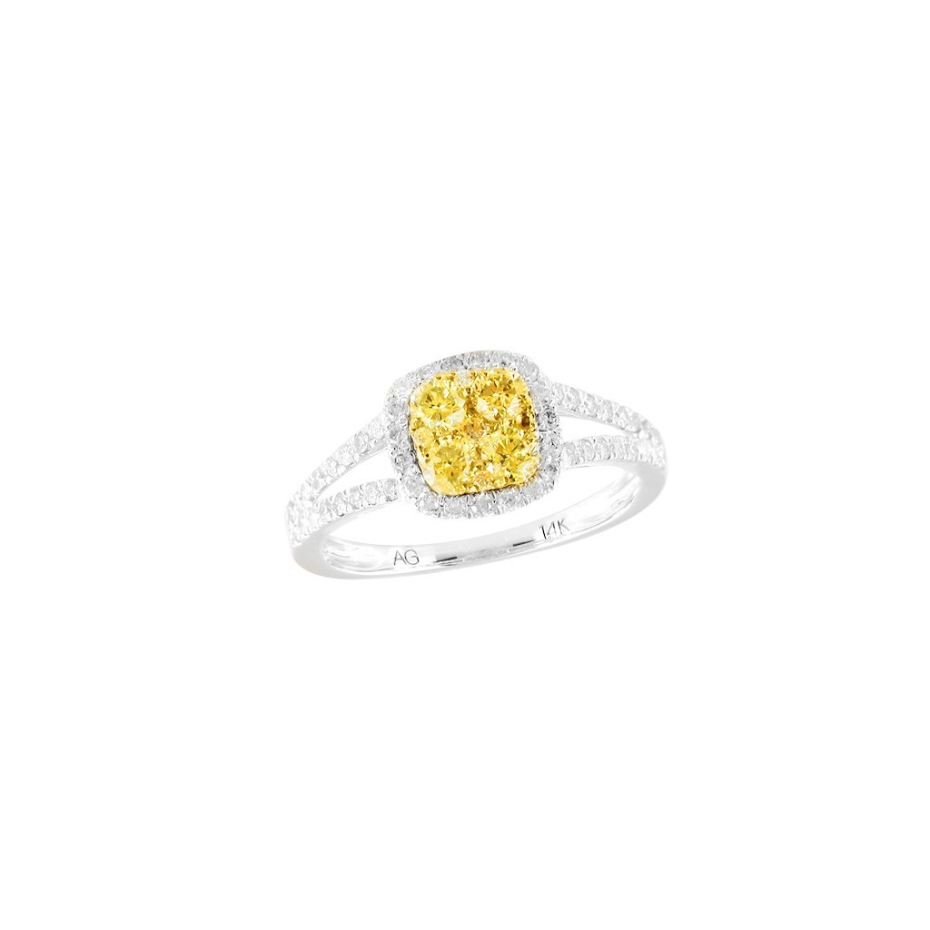 14k 1.00ctw Yellow Diamond Ring