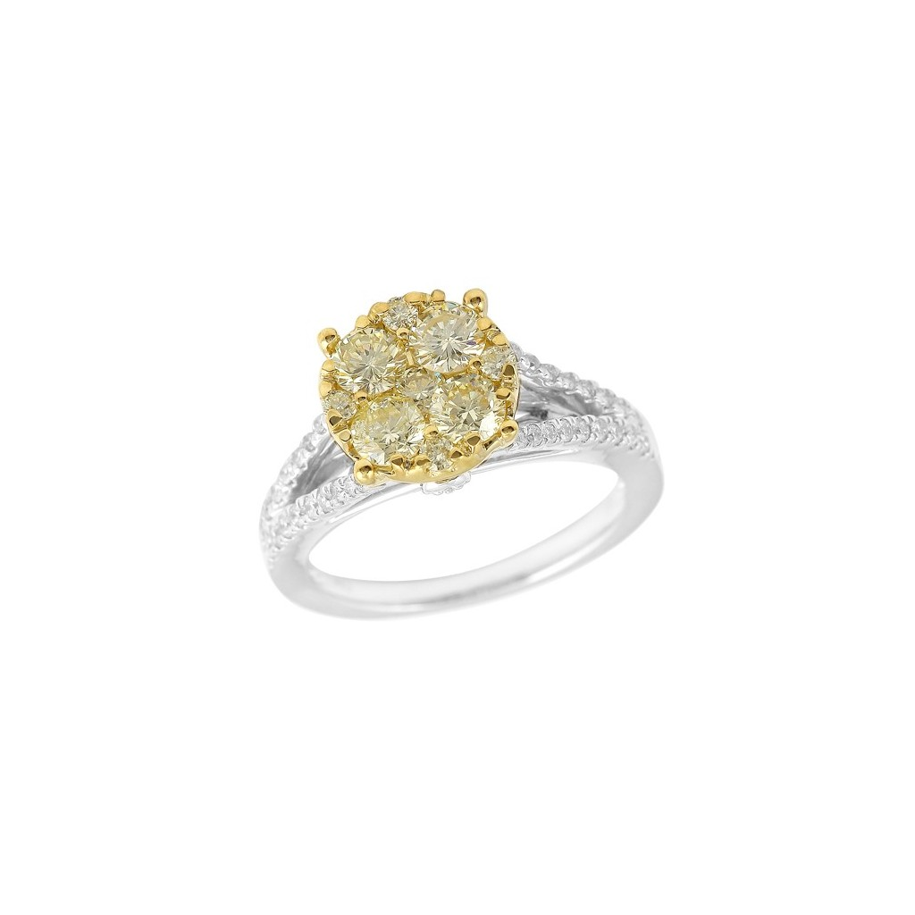 14k 1.50ctw Fancy Yellow Diamond Ring