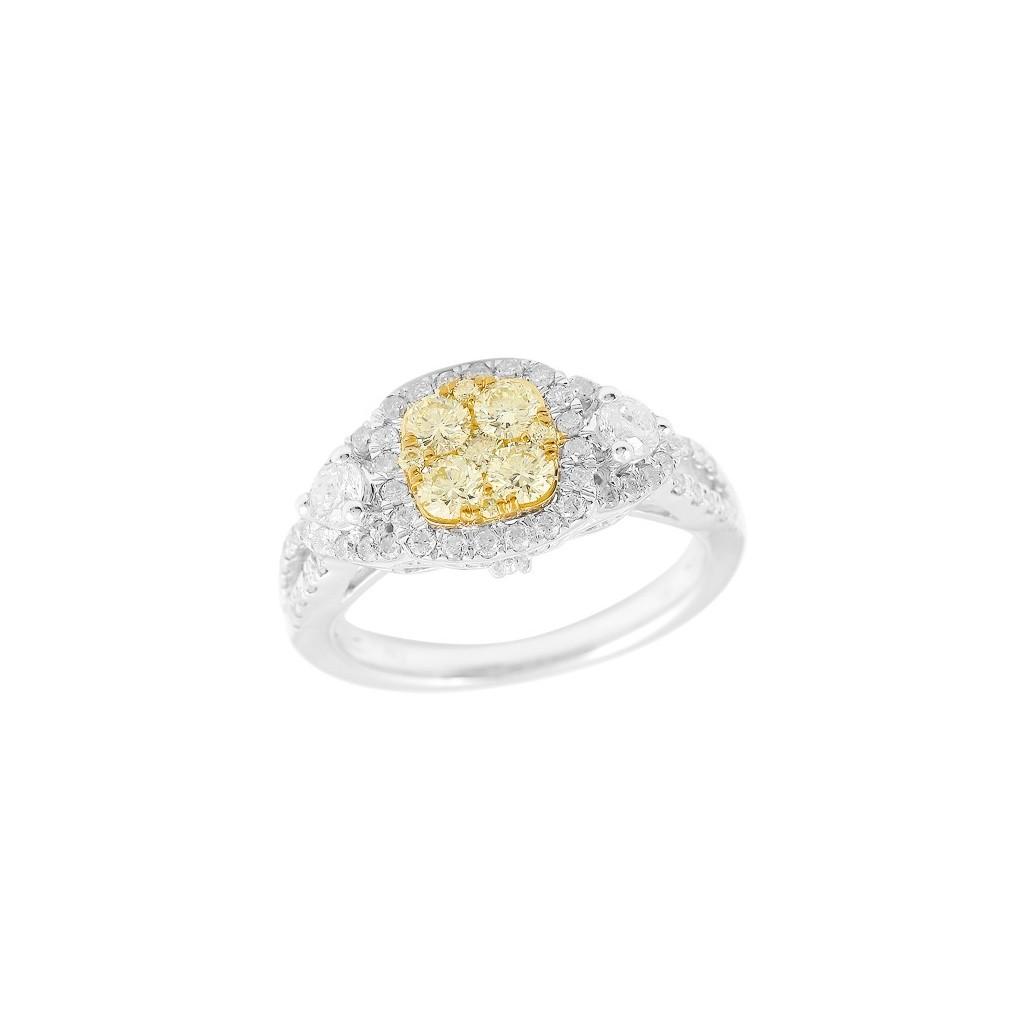 14k 1.25ctw Yellow Diamond Ring