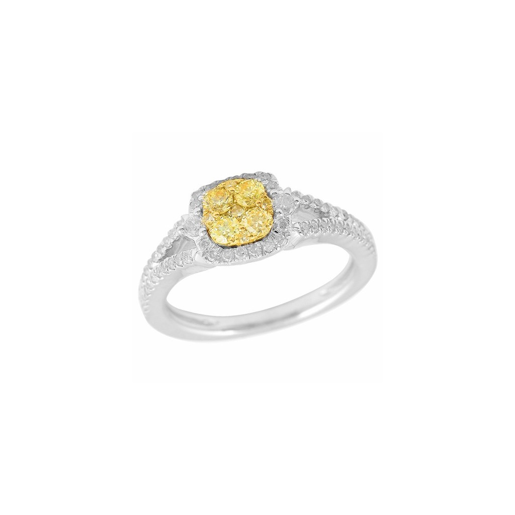 14k 0.80ctw Yellow Diamond Ring