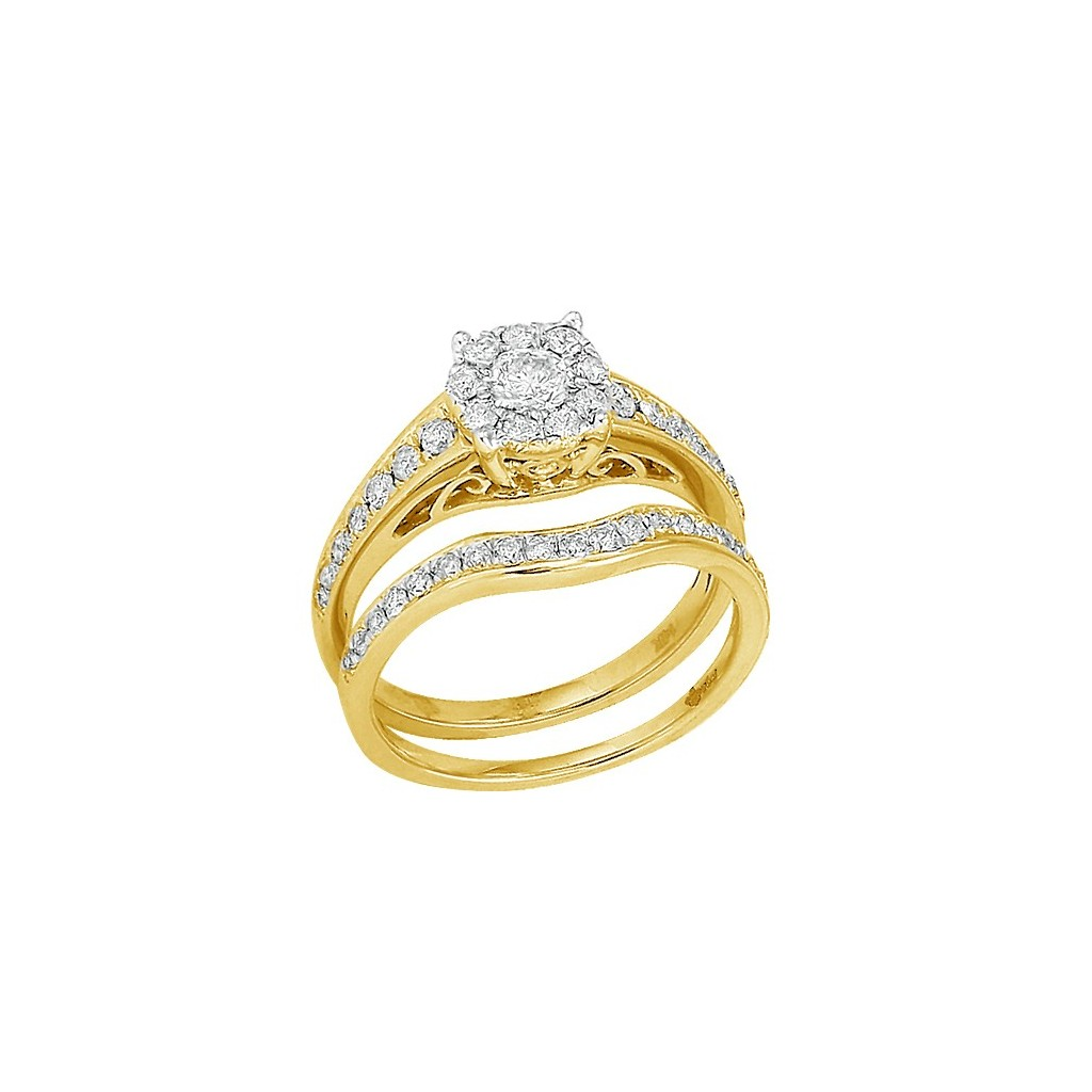 Bridal Diamond Ring with 1.00 Carats