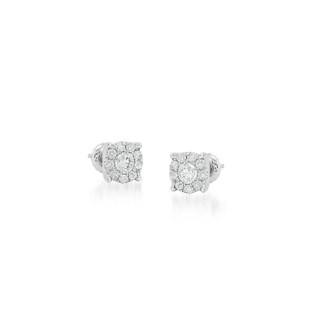 Diamond Earrings with 0.75 Carats