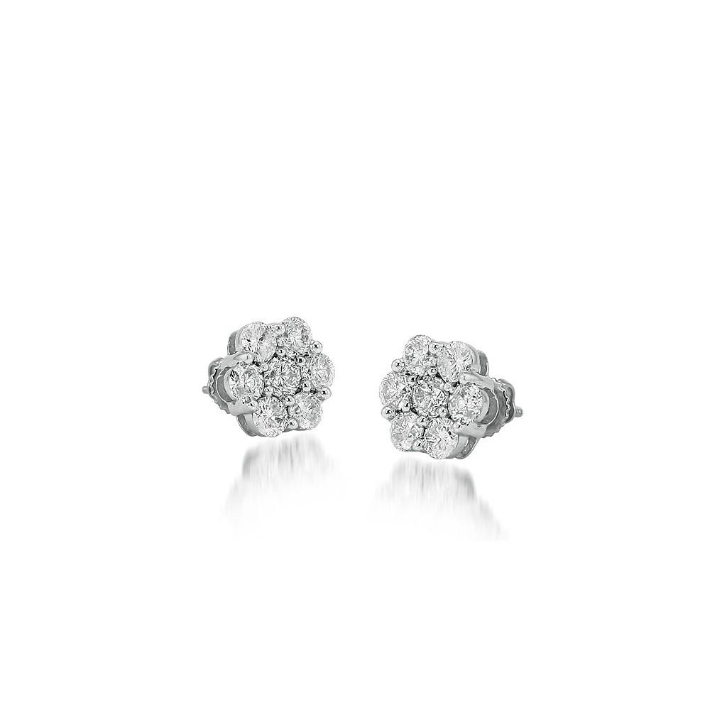 Diamond Earrings with 2.00 Carats