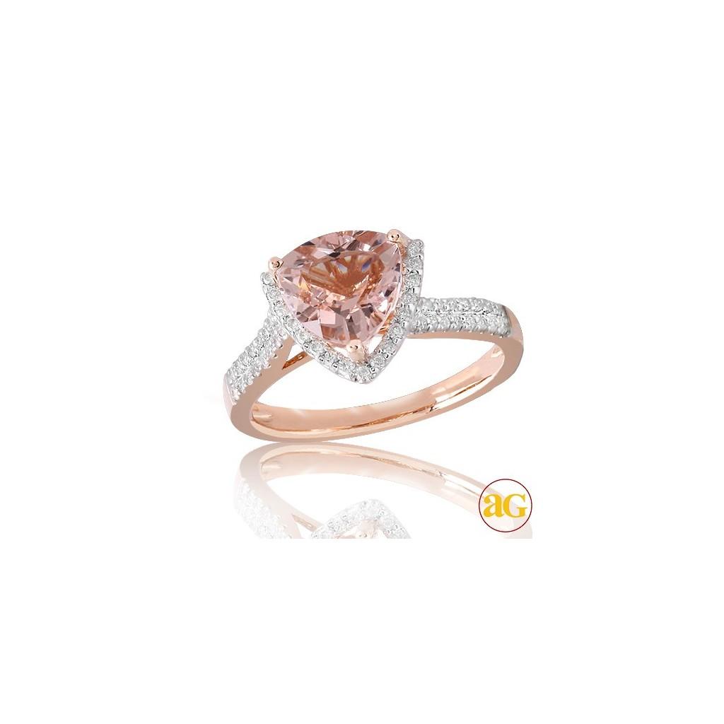 Morganite Diamond Ring with...