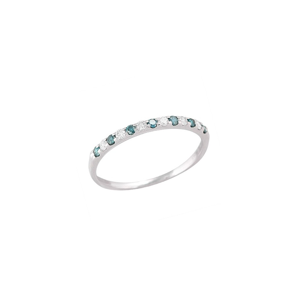 Blue Diamond Band with 0.25 Carats