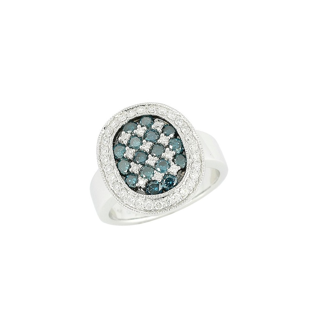 Blue Diamond Ring with 1.50 Carats