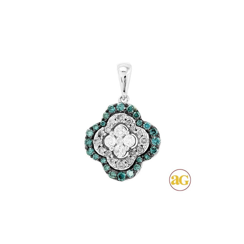 Blue Diamond Pendent with 0.50 Carats