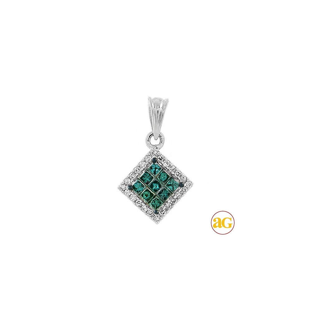 Blue Diamond Pendent with 0.33 Carats