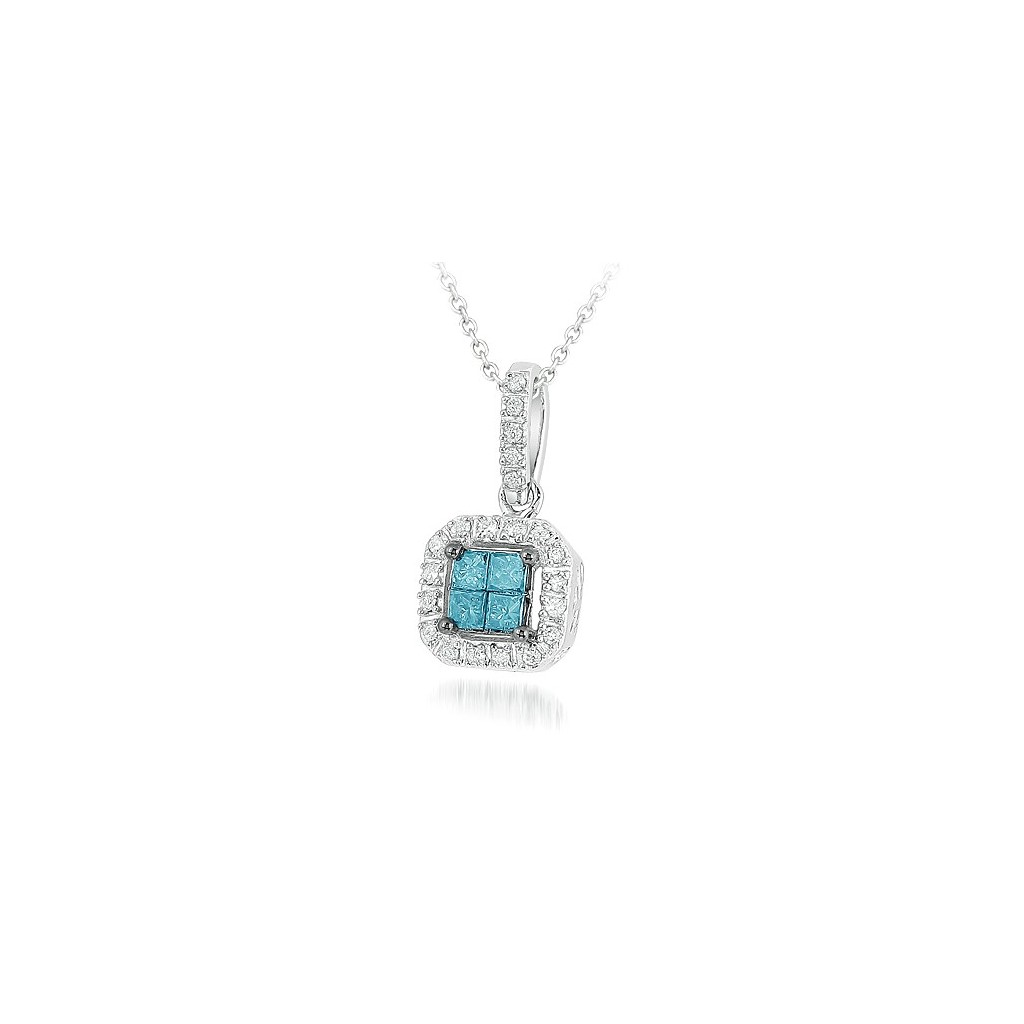 Blue Diamond Pendent with 0.25 Carats