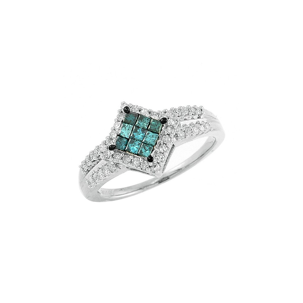 Blue Diamond Ring with 0.50...
