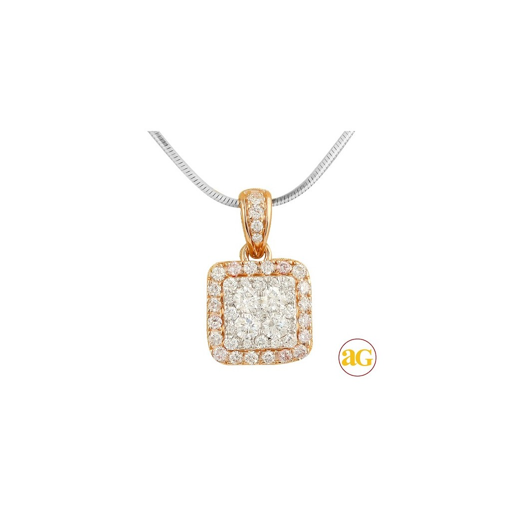 Diamond Cluster Pendant with 1.00 Carats