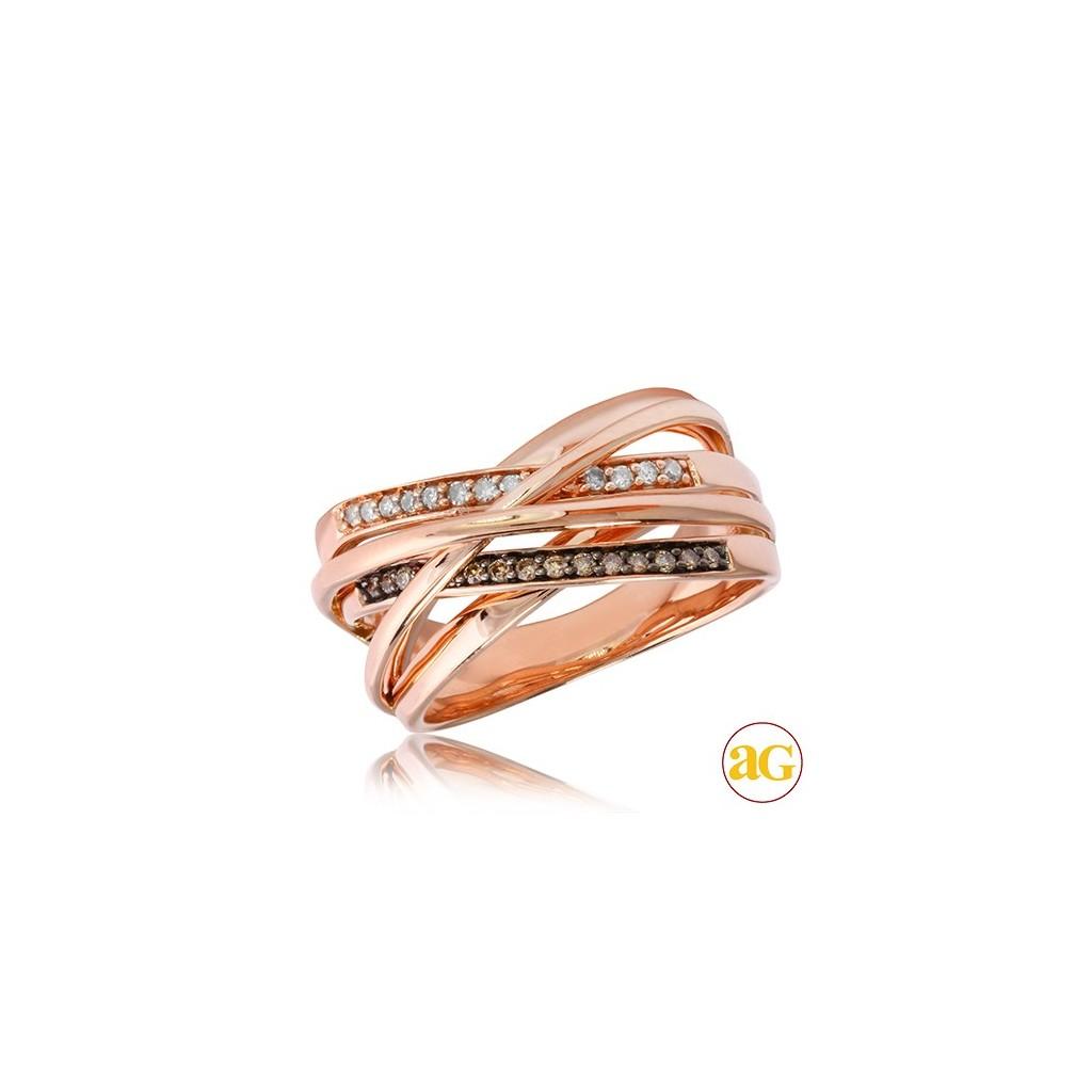 14kr 0.25ctw Champagne Diamond Ring