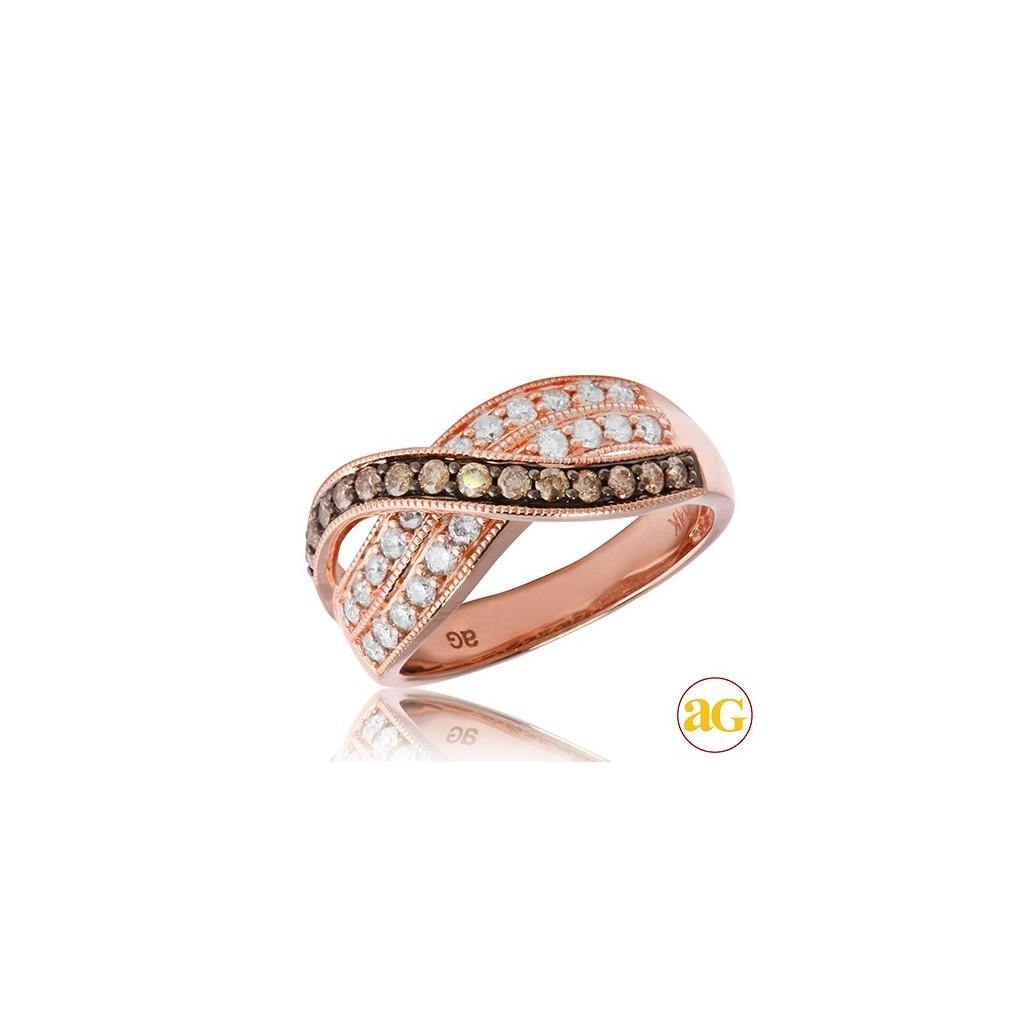 14kr 0.75ctw Champagne Diamond Ring