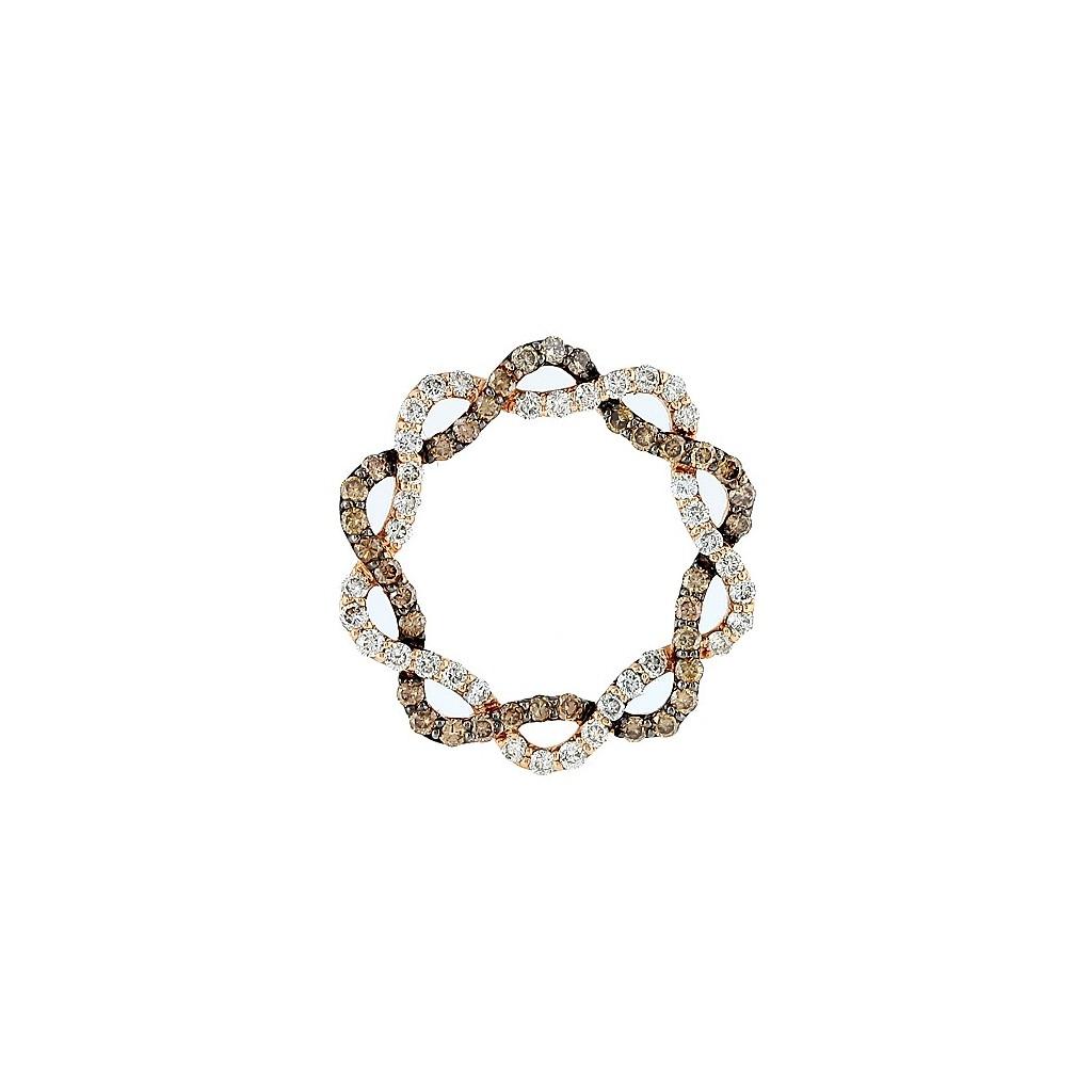 14kr 1.40ctw Champagne Diamond Pendant