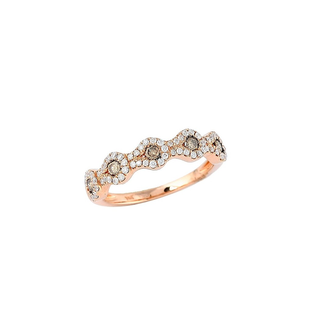 Champagne Diamond Ring with 0.56 Carats
