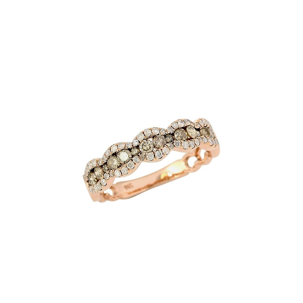 Champagne Diamond Ring with 1.00 Carats