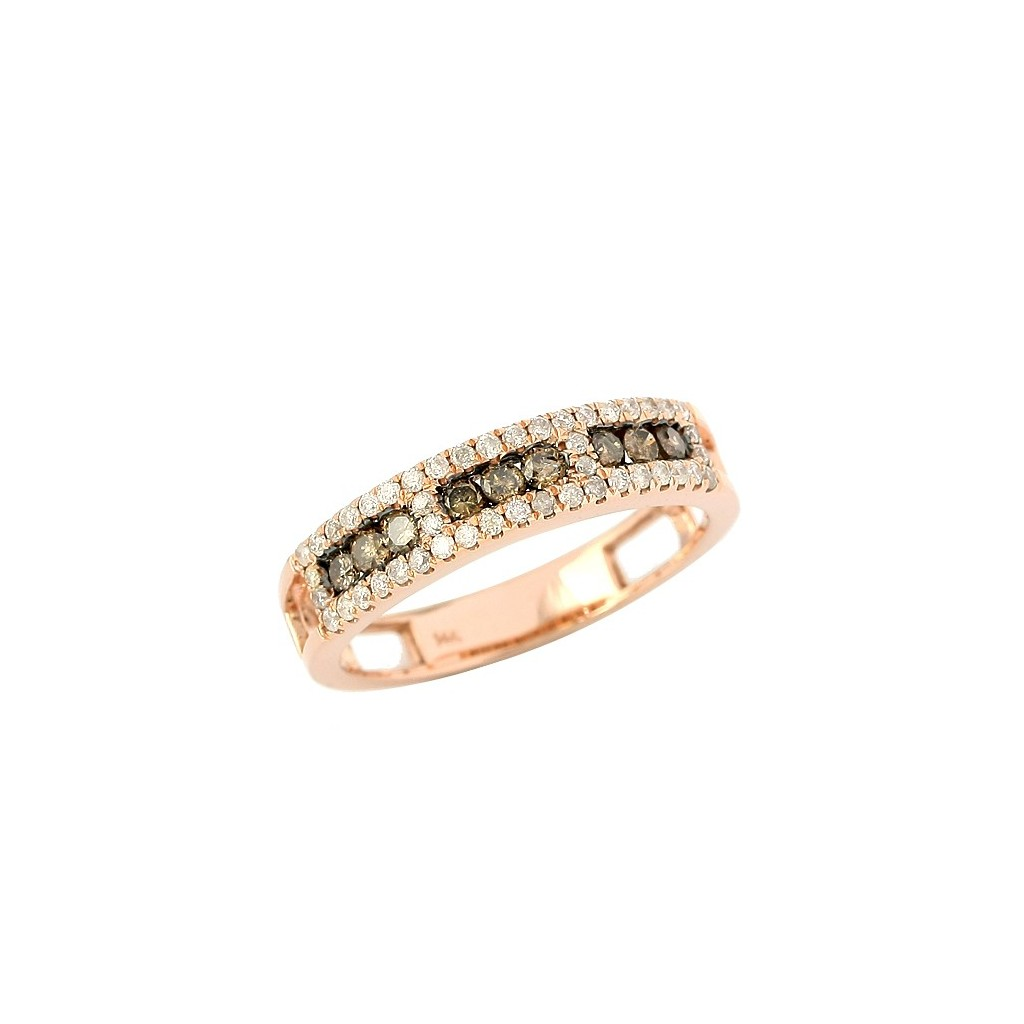 Champagne Diamond Ring with 0.65 Carats