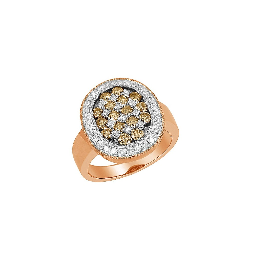 Champagne Diamond Ring with 1.50 Carats