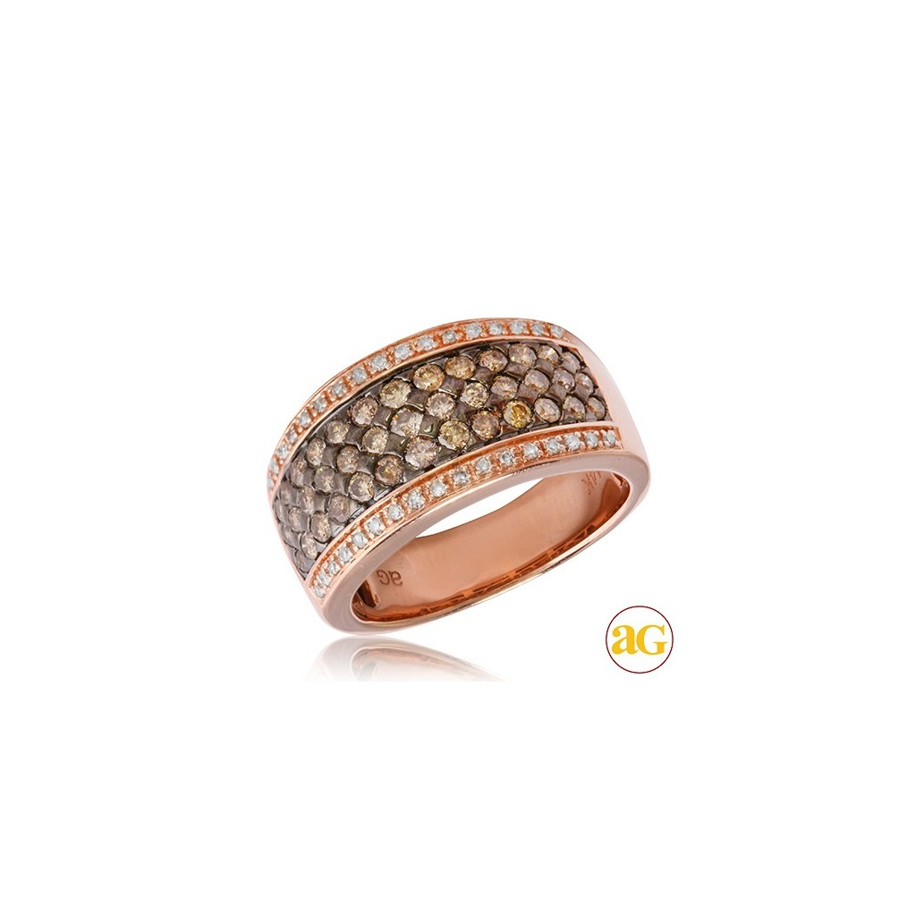 Champagne Diamond Ring with...
