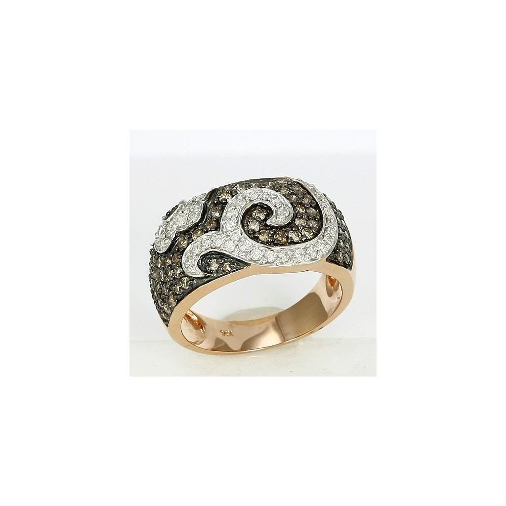 14kr 1.00ctw Champagne Diamond Rose Gold Ring