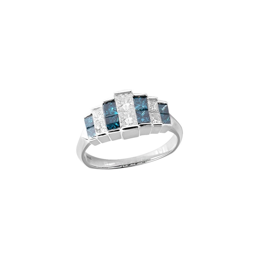 14kw 1.75ctw Blue Diamond Ring