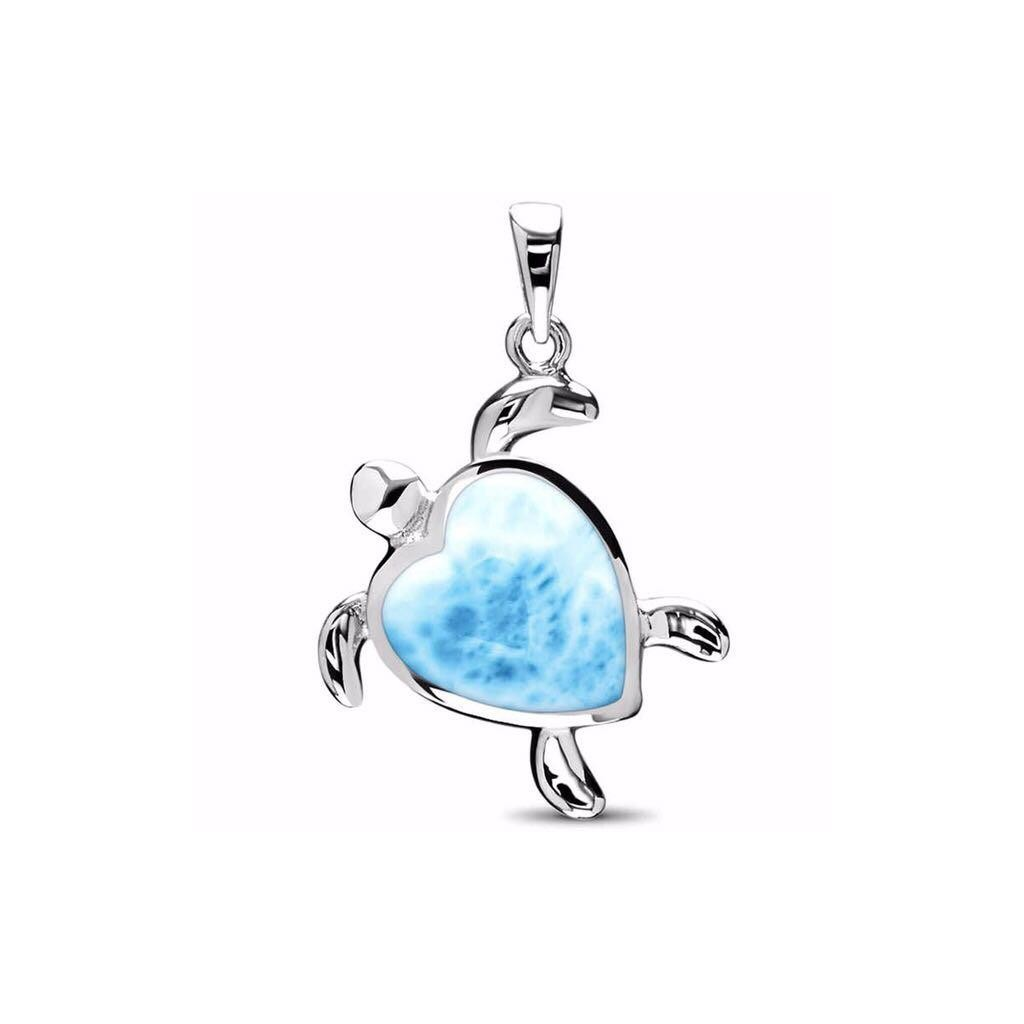 Larimar Stingray and Turtle Necklace Special
