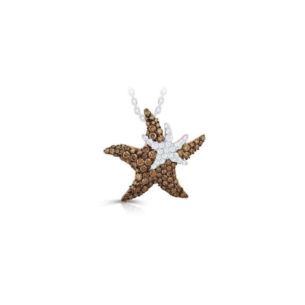 Brown diamond sealife collection - Double starfish