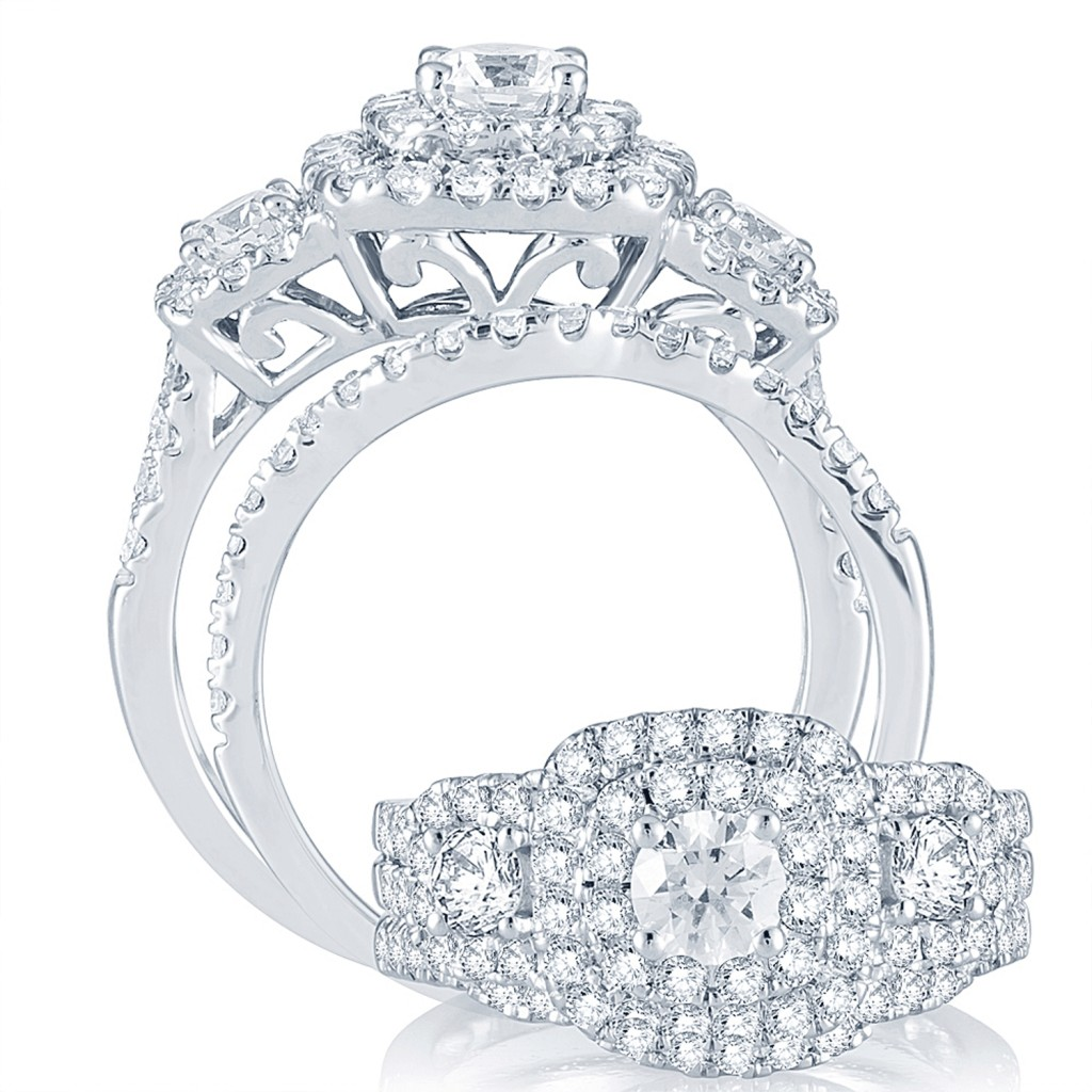 Engagement Ring Set 2 cts diamonds