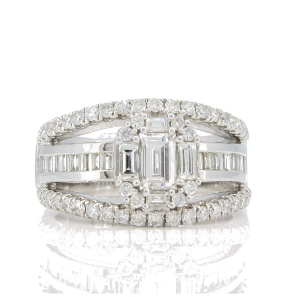 Emerald Cut Engagement Ring 2.25 cts