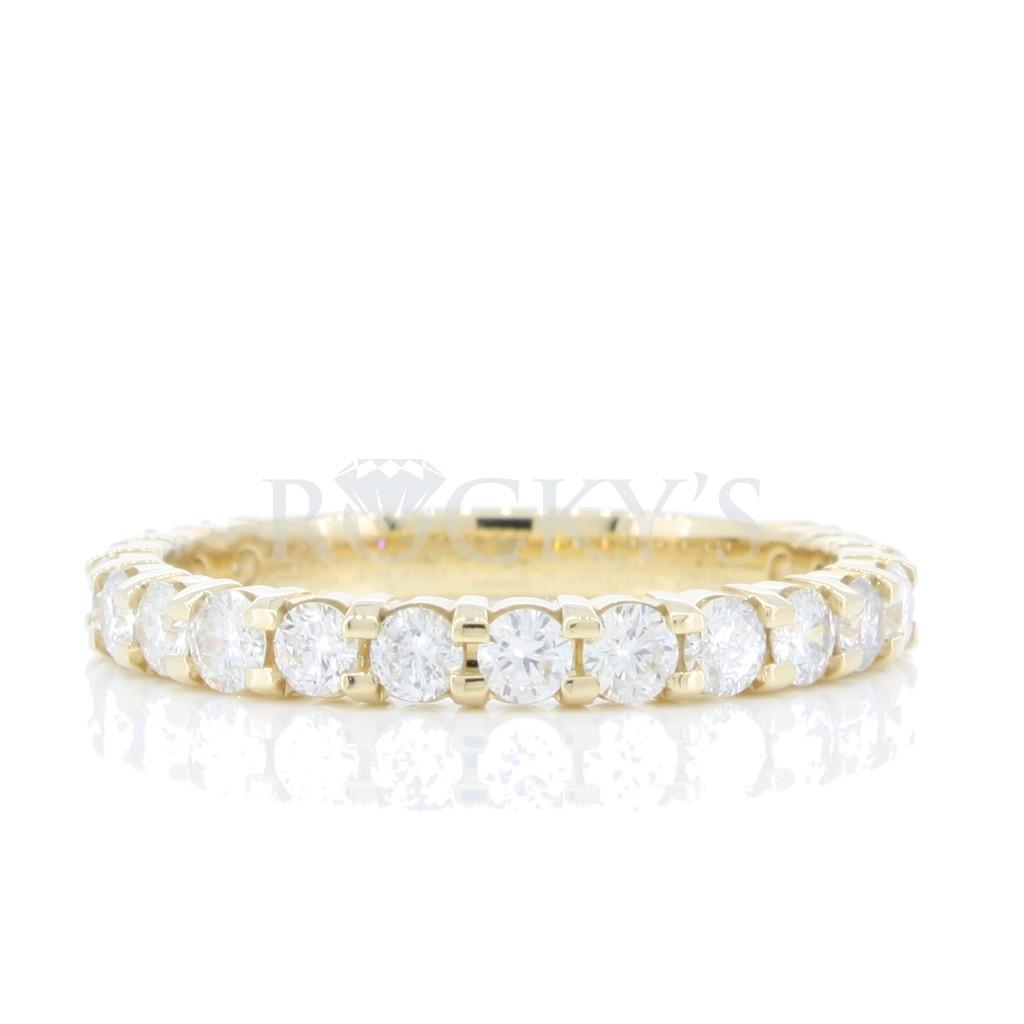 18 Stone Prong Setting Diamond Band 1 carat