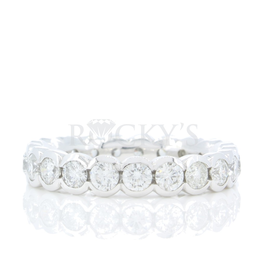 Eternity Band Half Bazel with 1.80 Carats
