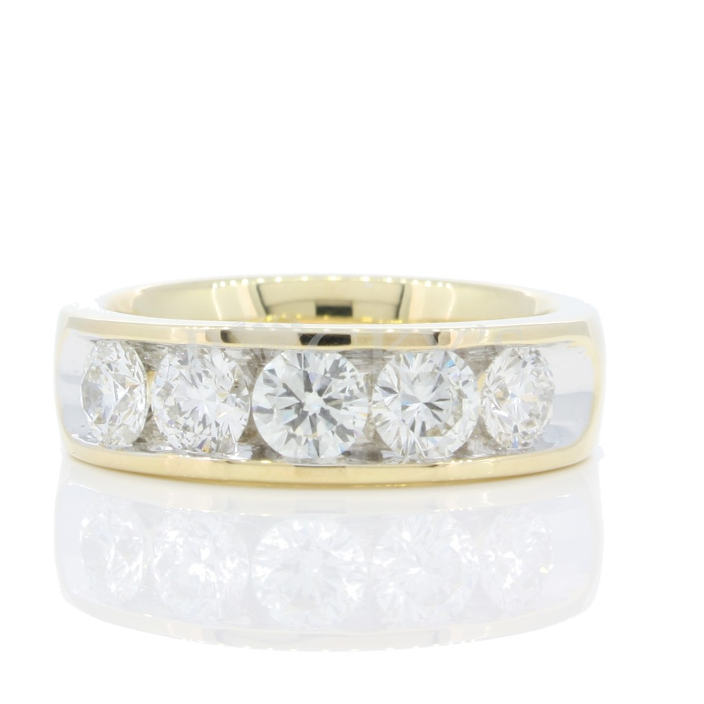 5 stone 14k Channel Set Diamond Band wtih 1.50 Carats