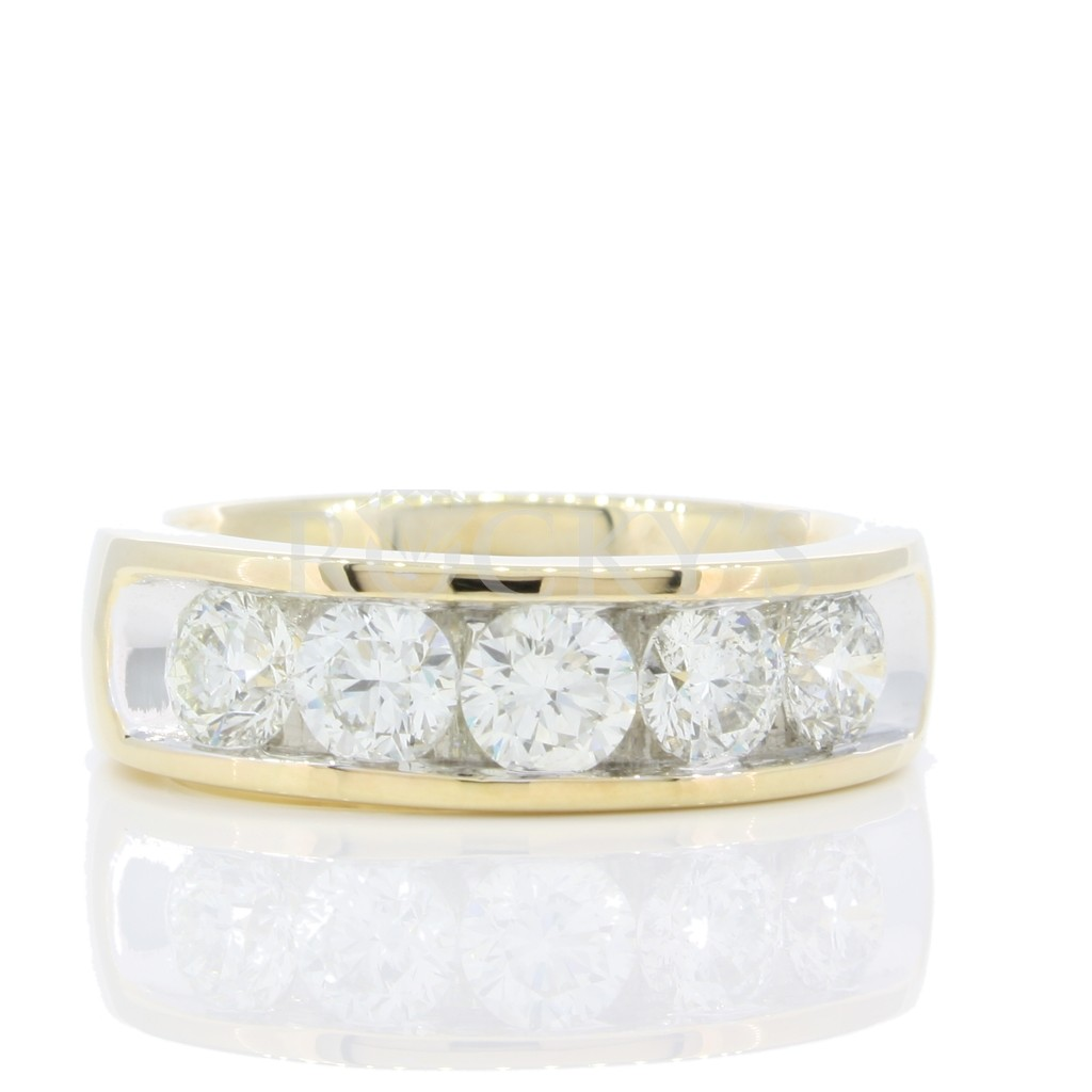 5 stone Channel Set Diamond Ring 1.89 cts