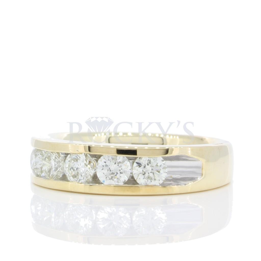 5 stone Channel set diamond band 1 carat