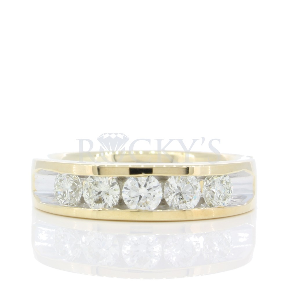 5 stone Channel Set Diamond Band  with 1.00 Carats