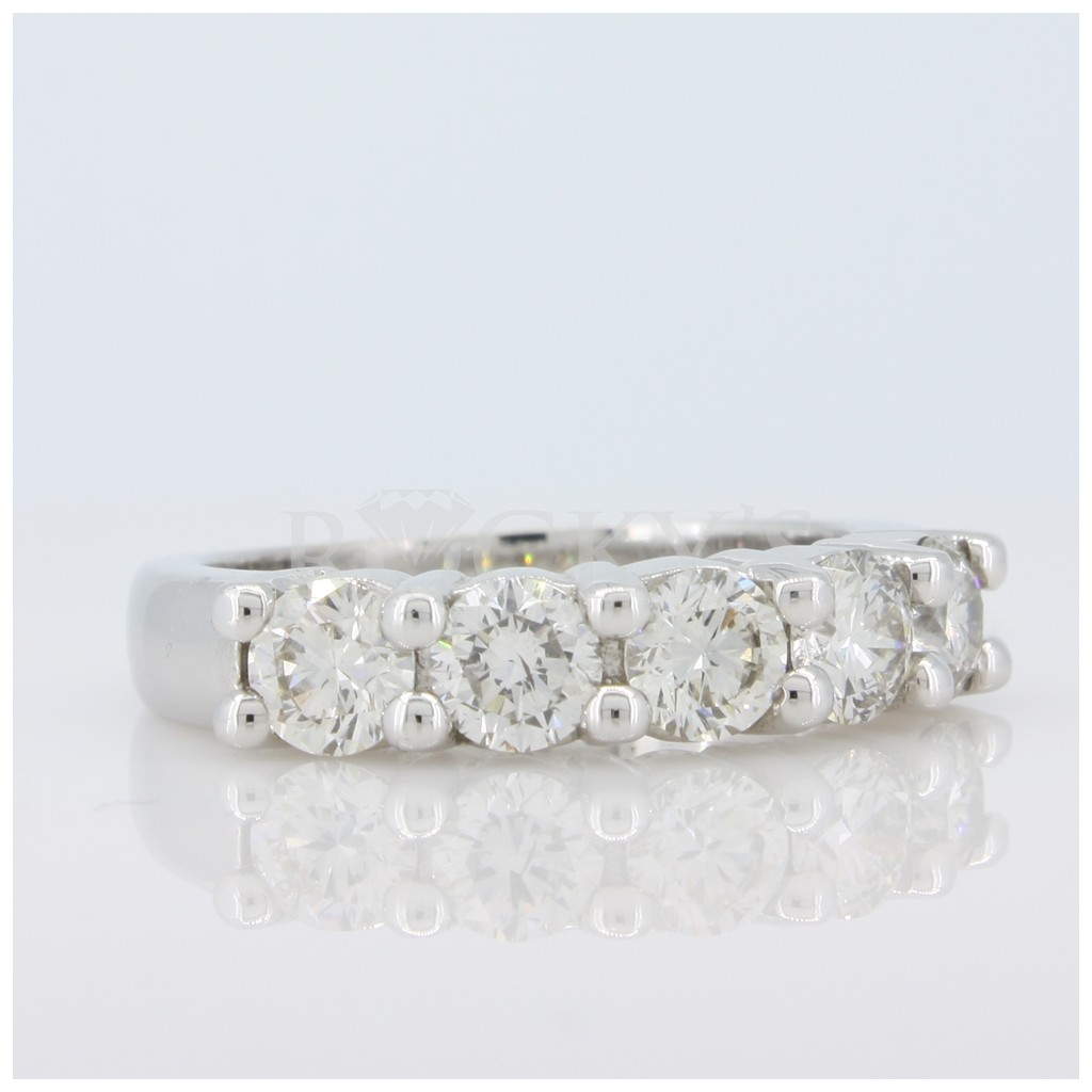 14k 5 stone Prong Set 1.54 carats
