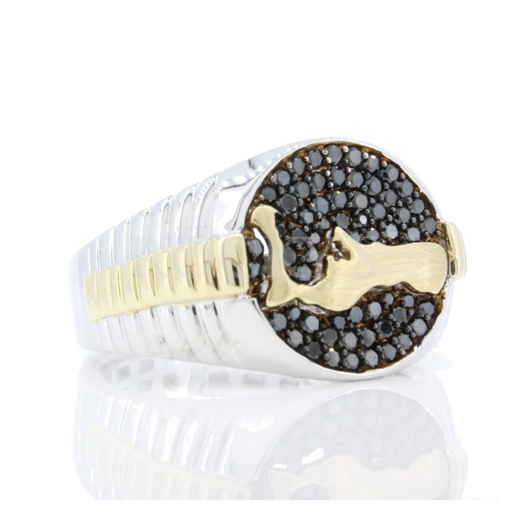 Grand Cayman Men's Black diamond Ring .62 cts