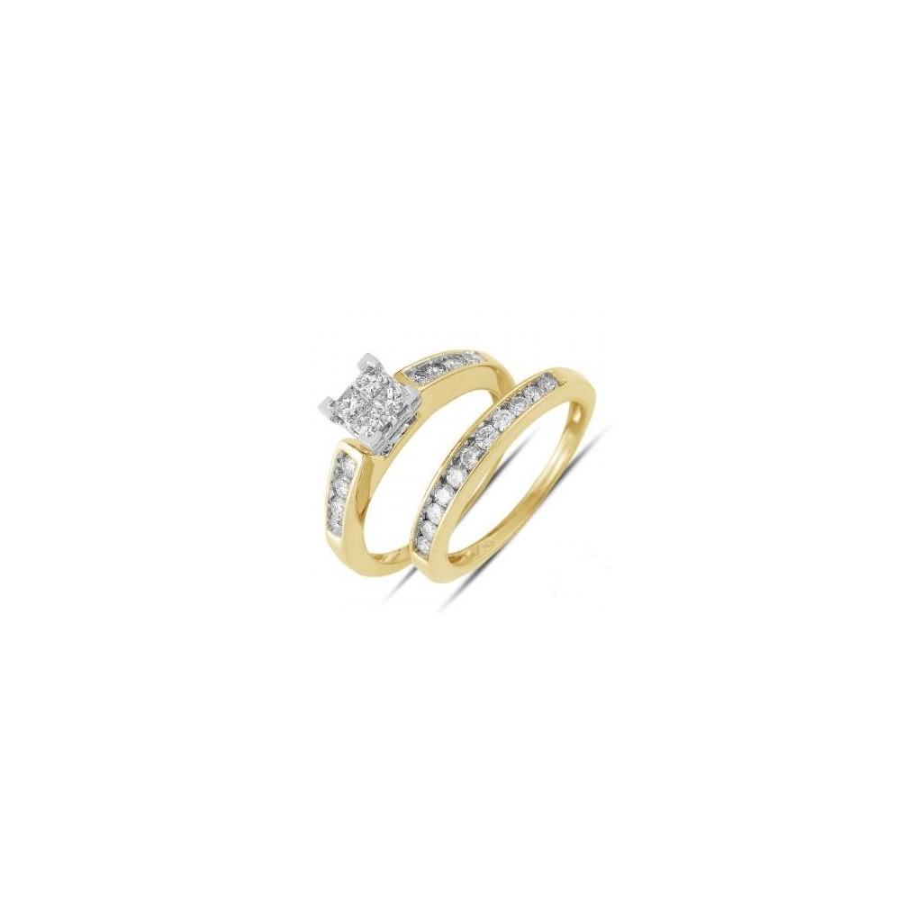 14KT DIAMOND RING WITH 0.75CARAT DIAMONDS