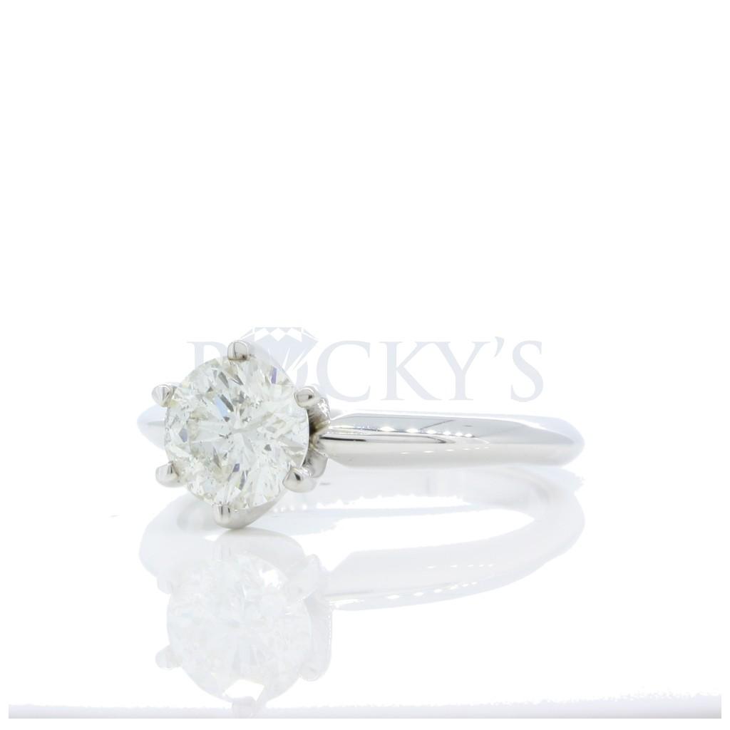 1.04 ct Round Engagement Ring