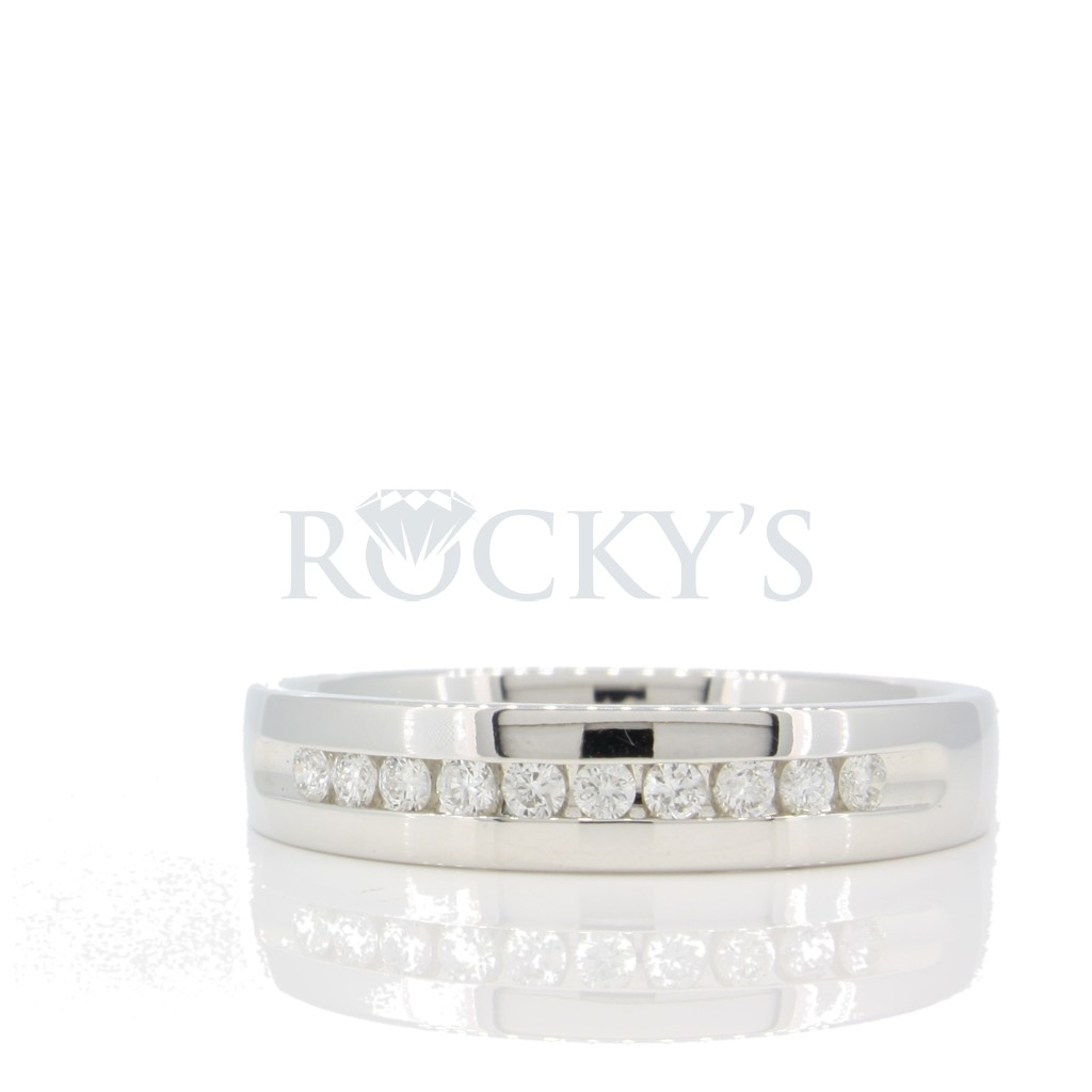 Men's Diamond Wedding Band 0.25 carats