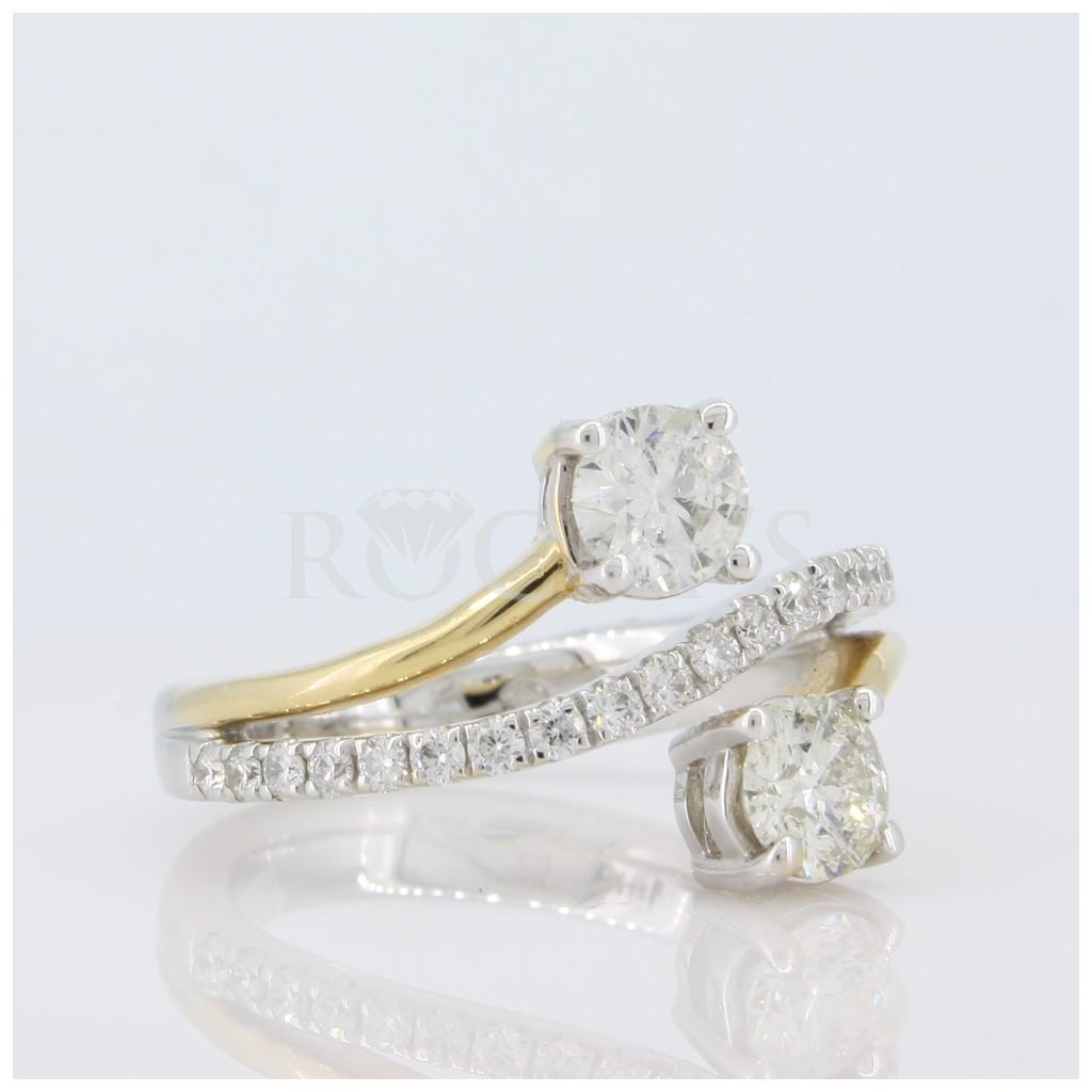 Two Stone Diamond Band 1.72 carats