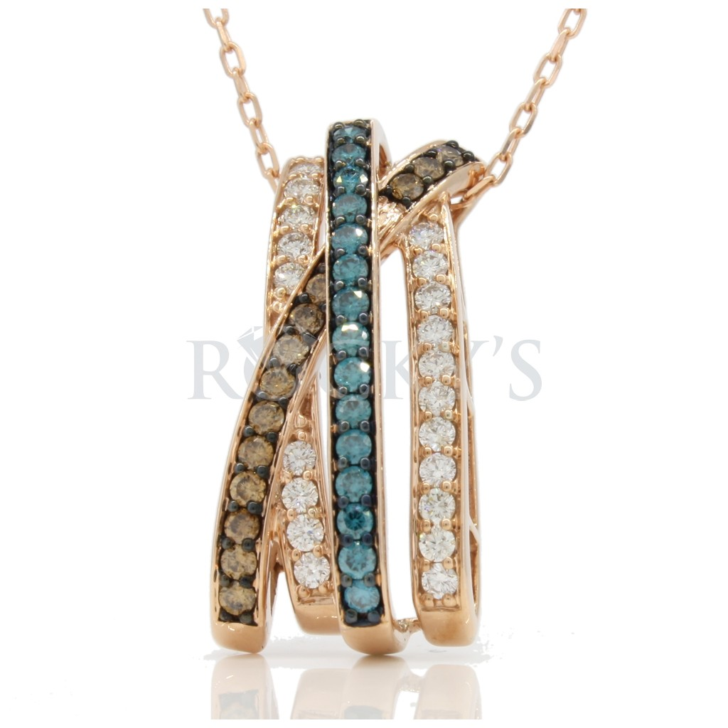 Multi- Color diamond Necklace 1.26 carats