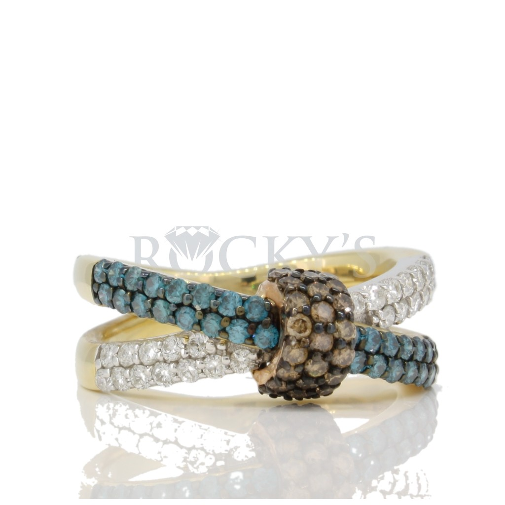 Multi Color Diamond Ring with 1.13 carats