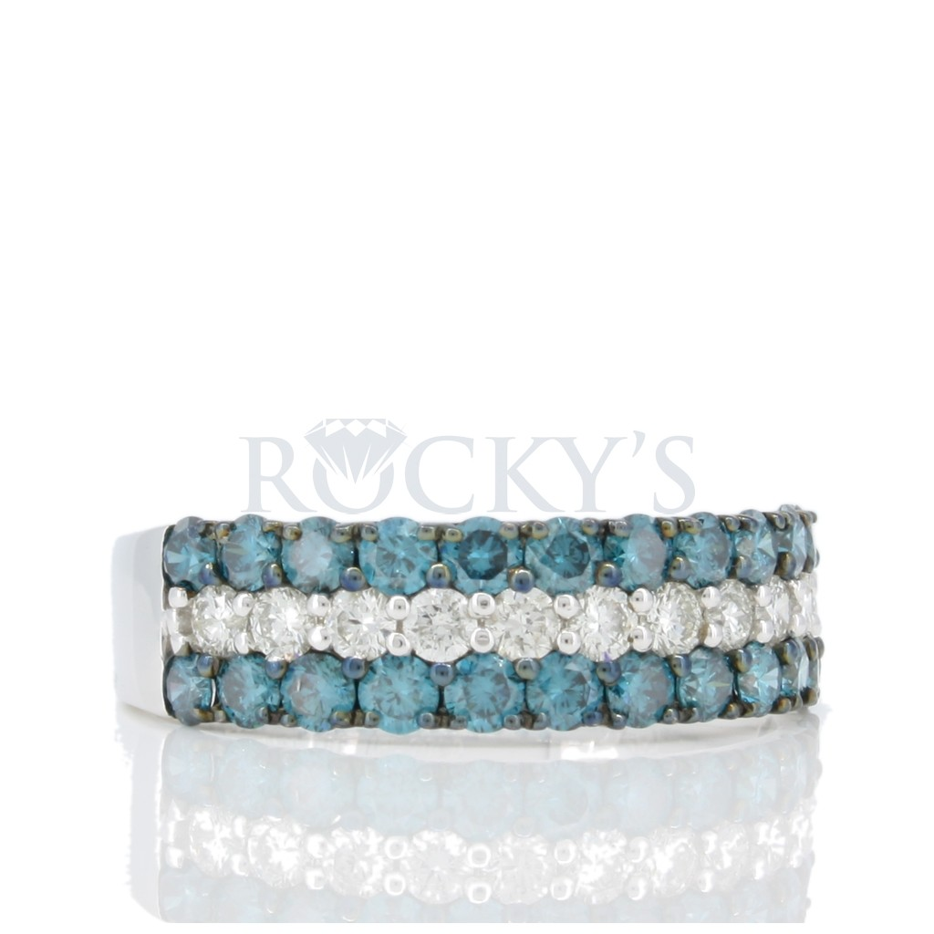 Blue Diamond Band with 1.52 carats