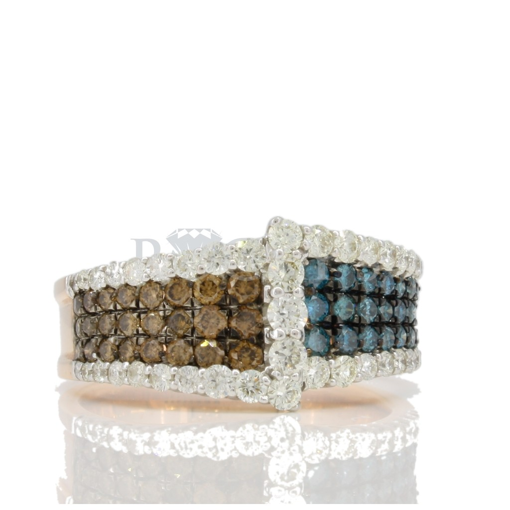 Multi color diamond Ring 1.08 carats