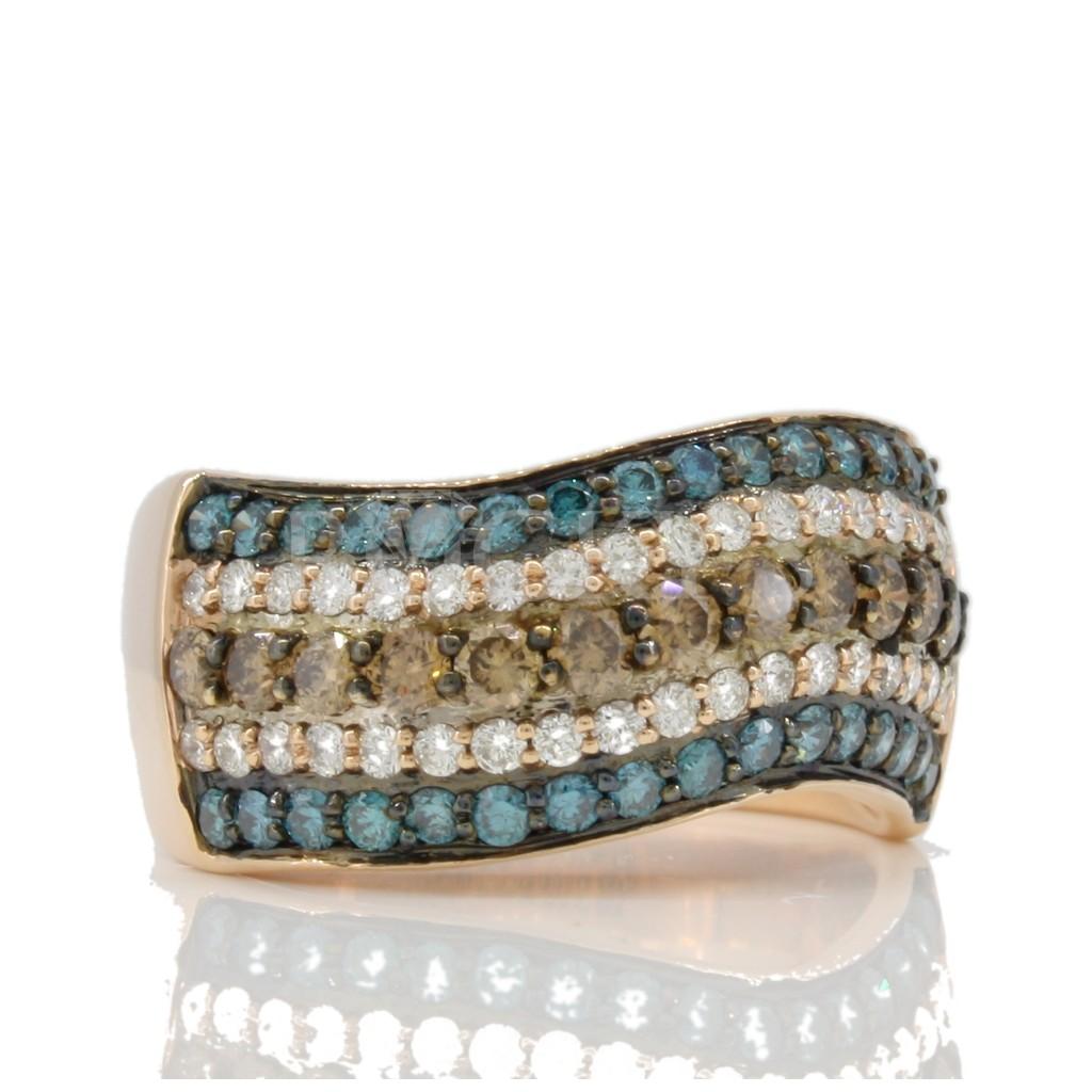 Multi Color diamond Ring 1.43 carats